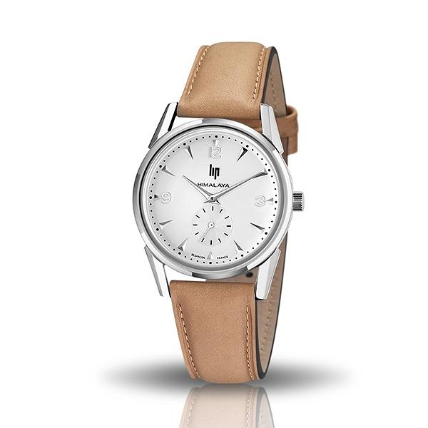 【lip】Himalaya時尚精緻皮革石英腕錶-卡其棕/671054/台灣總代理公司貨享兩年保固