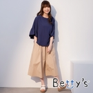 betty's貝蒂思 純色大口袋造型寬褲(卡其)