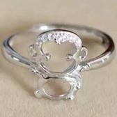 925純銀戒指鑲鑽-生日情人節禮物小猴子造型可愛迷人流行女飾品73ae52[巴黎精品]