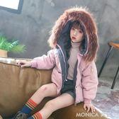 女童冬裝外套韓版新款兒童棉衣中大童洋氣加厚棉服小女孩短款   美斯特精品