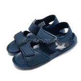 adidas 涼拖鞋 Altaswim C 深藍 鯊魚 魔鬼氈 童鞋 【PUMP306】 F34782