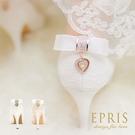 現貨 MIT小中大尺碼新娘婚鞋 心之邱比特蕾絲蝴蝶結水鑽真皮腳墊高跟鞋子21-26EPRIS艾佩絲-浪漫白色