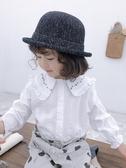 爆款熱銷女童襯衫女童春裝新款洋氣襯衫寶寶兒童裝春款小女孩娃娃衫白色襯衣潮聖誕節
