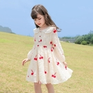 洋裝 女童洋裝連衣裙新款春裝韓版洋氣兒童裙子中大童公主裙春秋童裝 快速出貨