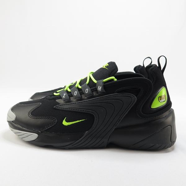 【iSport愛運動】NIKE ZOOM 2K 休閒鞋 AO0269008 男女款  黑螢綠