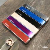 Cosmic.彩絲紋推式方型USB充電防風環保鋁製金屬電子點煙器打火機 (可另購刻字)【bb055】*911 SHOP*