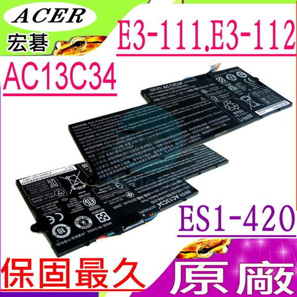ACER AC13C34 電池(原廠)-宏碁,E3-111,E3-112,ES1-111, ES1-111-C188,ES1-111-C827, 3UF426080-1-T1000,KT.00303...