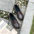2021新款秋冬英倫學院風JK小皮鞋女日系復古韓版百搭懶人樂福鞋夏寶貝計畫 上新