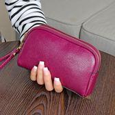 短錢夾-春夏季媽媽短款女士錢包中老年雙拉鍊手拿包包手機硬幣小包 【korea時尚記】