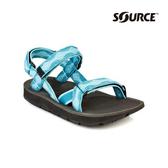 SOURCE 女越野運動涼鞋Stream101022B5【夢幻藍】 / 城市綠洲(織帶、輕量、快乾、抑菌)
