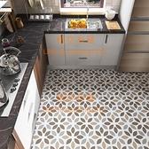 衛生間小花磚地板貼紙瓷磚地面浴室廚房防水防滑地貼自粘現代簡約【悟空有貨】