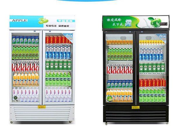 勁福展示櫃冷藏櫃立式商用冰櫃冰箱啤酒飲品保鮮櫃雙門單門飲料櫃igo 【Pink Q】