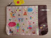 ☆草莓牛奶屋☆日本進口【RUB A DUB DUB動物系列】筆袋/收納袋(咖啡色)