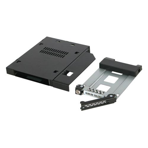 ICY Dock MB411SKO-B 黑色 2段式鑰匙鎖(附鑰匙鎖) 硬碟抽取內盒