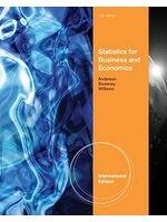二手書Statistics for Business and Economics, International Edition (with CD-ROM Printed Access Card) R2Y 0538471883