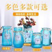 花瓶 創意花瓶擺件歐式家居玻璃花瓶客廳透明綠蘿水培植物富貴竹插花瓶 igo 歐萊爾藝術館