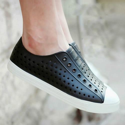 懶人鞋 洞洞鞋 沙灘鞋 包頭運動涼鞋 雨鞋【莎芭】
