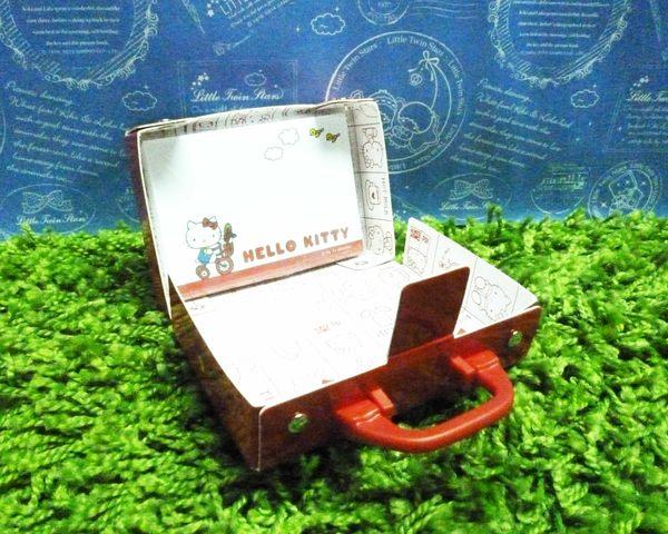 【震撼精品百貨】Hello Kitty 凱蒂貓~便條紙附整理盒-紅腳踏車【共1款】