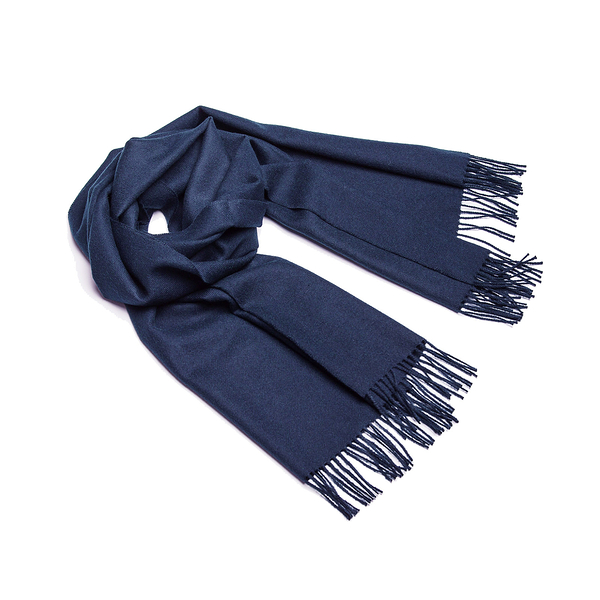 Alpaka Shawl Exclusive 100% 65x200cm 極致系列 素面單色 羊駝毛 披肩 / 圍巾 - 2019 秋冬仕樣(海軍深藍)