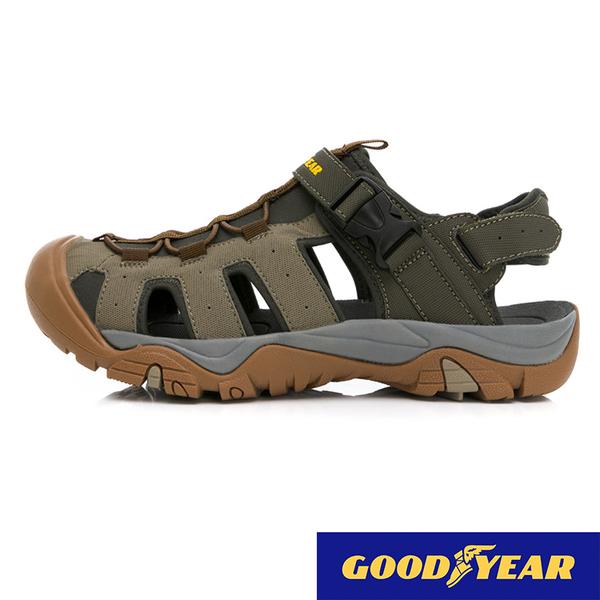 男款 GOODYEAR 固特異 護趾磁扣防滑耐磨易曲折輕量軟Q水陸車鞋休閒運動涼鞋護趾涼鞋 59鞋廊