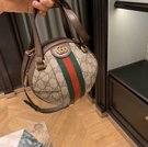 ■夏季折扣專櫃73折 ■ Gucci 全新真品 574794 Ophidia GG帆布小牛皮球型手提包