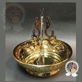 古銅雙魚24H環香爐【十方佛教文物】