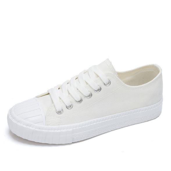 丁果、帆布鞋35-40►簡約素面繫帶平底鞋*5色