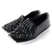 DeSire  舒適水鑽厚底休閒鞋  -黑