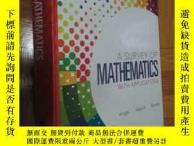 二手書博民逛書店A罕見Survey of Mathematics with Ap