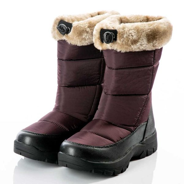 【PolarStar】女保暖雪鞋『褐紫』P18628 (冰爪 / 內厚鋪毛 /防滑鞋底) 雪靴.雪鞋.賞雪.滑雪.雪地必備