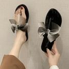 仙女拖鞋 2021夏季新款網紅夾腳蝴蝶結人字拖鞋女外穿時尚ins潮沙灘涼拖鞋