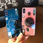 雙十二狂歡 創意復古照相機iphone7plus手機殼氣囊支架蘋果X/6s/8plus硅膠套 挪威森林