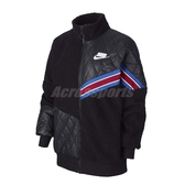 Nike 外套 NSW Sports Pack Sherpa JKT 黑 藍 女款 毛絨 休閒 【ACS】 BV3041-011