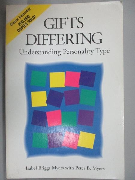 【書寶二手書T1/心理_YEV】Gifts D I f f e r I n g -Understanding Persona..._Myers