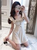 無袖洋裝夏季女2020新款韓版時尚氣質網紅修身顯瘦高腰無袖收腰仙女連身裙 JUST M
