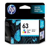 F6U61AA HP 63 彩色墨水匣 適用 DJ3630/2180/2130/1110/ENVY4520/OJ3830/4650