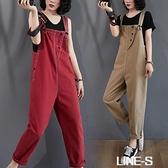 減齡牛仔吊帶褲女韓版2020夏季新款寬松大碼九分褲顯瘦高腰連身褲