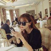 太陽眼鏡墨鏡女2018新款韓版潮街拍明星同款眼鏡女網紅太陽鏡女士圓臉 雲朵走走