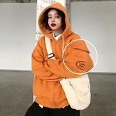 棒球外套 外套女新款2021爆款秋冬加絨加厚韓版寬鬆復古棒球服百搭炸街衛衣 伊蘿