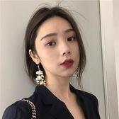 滿天星珍珠唯美溫柔仙氣質透明魚韓版耳環 JA615 『美鞋公社』