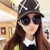 現貨-韓國ulzzang原宿復古墨鏡新款韓版墨鏡復古可愛圓框太陽鏡塑料框架太陽眼鏡 35