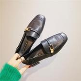 復古皮鞋英倫小皮鞋女2021新款百搭秋季網紅學院風日系復古低跟方頭單鞋女 JUST M