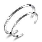 【5折超值價】經典潮流簡約字母造型情侶款鈦鋼手環