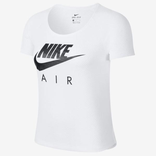 NIKE服飾系列-AS W NK AIR SS TOP MESH 女款白色短袖上衣-NO.BV4005100
