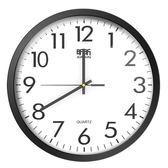 昕昕鐘錶掛鐘客廳圓形創意時鐘掛錶簡約現代家庭靜音電子石英鐘 挪威森林