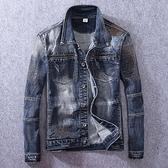 牛仔外套-時尚有型街頭休閒刷色男丹寧夾克73rj25【巴黎精品】