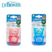 Dr. Browns布朗醫生 Prevent功能性夜光安撫奶嘴12+月(兩入裝)~粉/藍