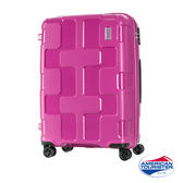 AT美國旅行者 25吋Rumpler拼圖硬殼TSA行李箱(活力粉)