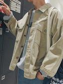 棉衣外套男 @港仔文藝男 秋季男士學生工裝夾克韓版男裝潮流外套長袖休閒夾克 俏女孩
