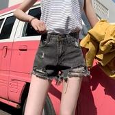 高腰牛仔短褲女春夏新款韓版學生寬鬆顯瘦大碼胖mm破洞闊腿熱褲子